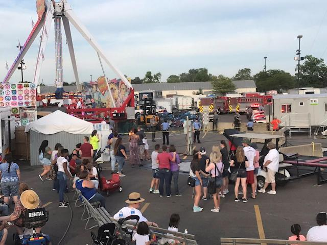 <p>A ride called Fireball malfunctioned causing numerous injuries at the Ohio State Fair in Colombus, Ohio, July 26, 2017. (Bruce Lamm/@OntheLamm/Social Media Website/via Reuters) </p>