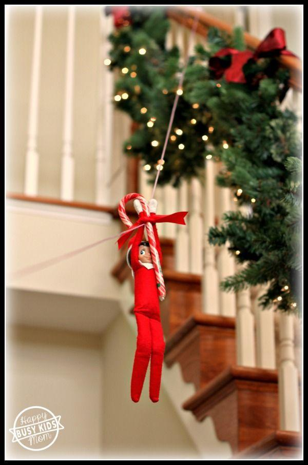 """<p>Wheeee! Elf gets a great view with this creative idea.</p><p><strong>Get the tutorial at <a href=""""https://www.busykidshappymom.org/meet-our-elf-franklin/"""" rel=""""nofollow noopener"""" target=""""_blank"""" data-ylk=""""slk:Busy Kids Happy Mom"""" class=""""link rapid-noclick-resp"""">Busy Kids Happy Mom</a>.</strong></p><p><a class=""""link rapid-noclick-resp"""" href=""""https://www.amazon.com/Candy-Cane-Peppermint-Flavored-Pieces/dp/B075B8V3W2/ref=sr_1_3?tag=syn-yahoo-20&ascsubtag=%5Bartid%7C10050.g.22690552%5Bsrc%7Cyahoo-us"""" rel=""""nofollow noopener"""" target=""""_blank"""" data-ylk=""""slk:SHOP CANDY CANES"""">SHOP CANDY CANES </a></p>"""