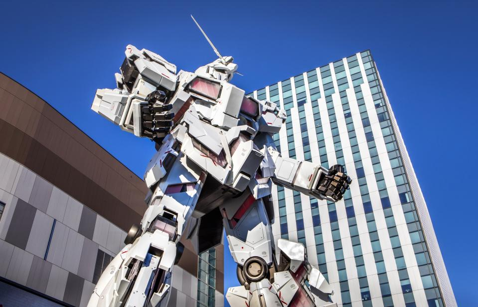 Japan , Tokyo City, Odaiba District, Gundam (Photo by: Prisma by Dukas/Universal Images Group via Getty Images)