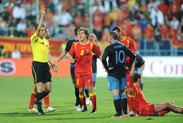 Sent off on another night to forget as England draw 2-2 with Montenegro in a Euro 2012 qualifier (Owen Humphreys/PA)