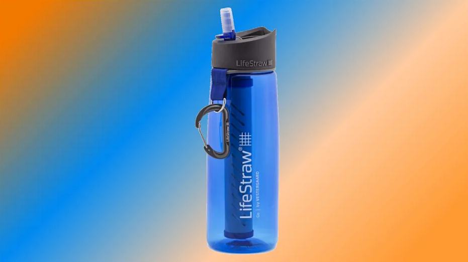 A near-miraculous activated-carbon filter inside turns any water drinkable. (Photo: Amazon)