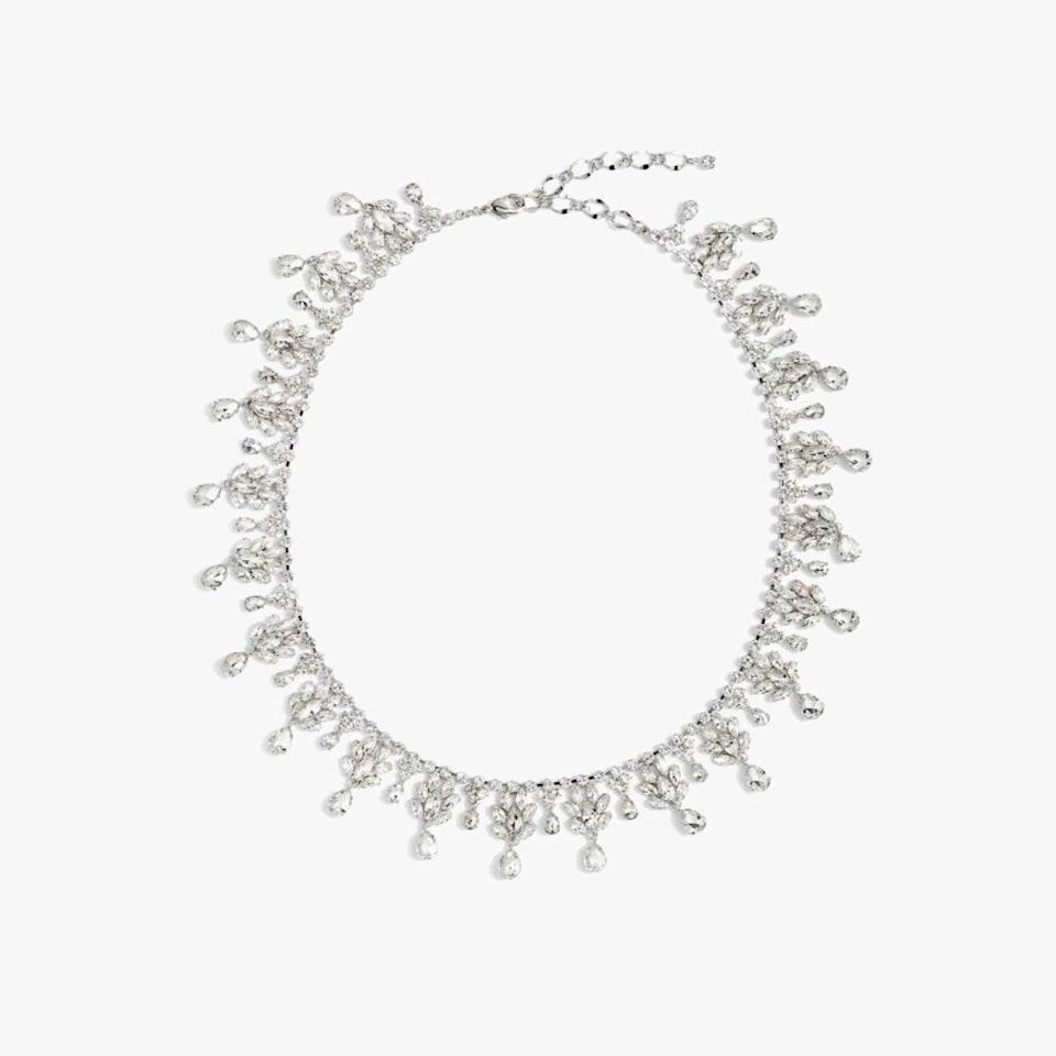 "$65, NORDSTROM. <a href=""https://www.nordstrom.com/s/cristabelle-crystal-fringe-statement-necklace/5816148?origin=keywordsearch-personalizedsort&breadcrumb=Home%2FAll%20Results&color=040"" rel=""nofollow noopener"" target=""_blank"" data-ylk=""slk:Get it now!"" class=""link rapid-noclick-resp"">Get it now!</a>"