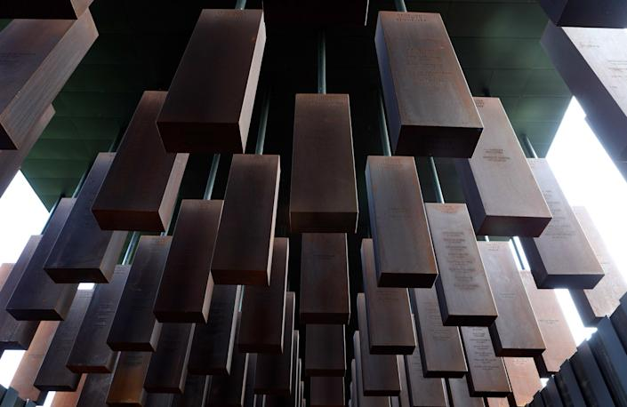 The National Memorial for Peace and Justice, in Montgomery, Alabama, is the nation's first monument dedicated to the legacy of enslaved Black people, people terrorized by lynching, African Americans humiliated by racial segregation and Jim Crow, and people of color burdened with contemporary presumptions of guilt and police violence.