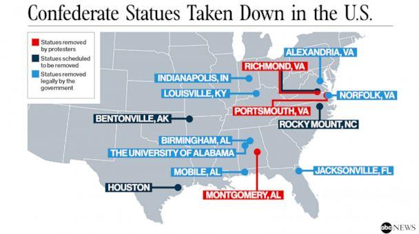 PHOTO: Confederate Statues Taken Down in the U.S. (ABC News)