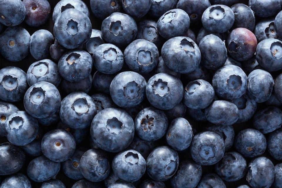 """<p>Since they're loaded with polyphenolic compounds, eating more <a href=""""https://www.goodhousekeeping.com/health/diet-nutrition/a20916472/blueberries-nutrition/"""" rel=""""nofollow noopener"""" target=""""_blank"""" data-ylk=""""slk:blueberries"""" class=""""link rapid-noclick-resp"""">blueberries</a> can protect your <a href=""""https://www.goodhousekeeping.com/health/a26090748/heart-disease-signs-symptoms/"""" rel=""""nofollow noopener"""" target=""""_blank"""" data-ylk=""""slk:heart"""" class=""""link rapid-noclick-resp"""">heart</a> by benefiting blood vessels and deterring harmful plaque or damage. The fiber in berries also slows down the rate of digestion in your GI tract, steadying the release of sugar into your bloodstream and offering a longer-lasting energy boost. Besides adding them to anything from oatmeal and yogurt to salads and grain dishes, consider the most obvious and delicious option: <a href=""""https://www.goodhousekeeping.com/food-recipes/a35695996/best-blueberry-muffin-recipe/"""" rel=""""nofollow noopener"""" target=""""_blank"""" data-ylk=""""slk:blueberry muffins"""" class=""""link rapid-noclick-resp"""">blueberry muffins</a>! <br></p>"""