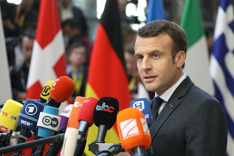 French President Emmanuel Macron endorsed the European Commission's plan to move towards a more assertive position towards China