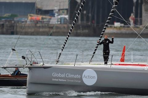 Greta Thunberg completed her recent journey to New York by yacht - Credit: AFP/BEN STANSALL