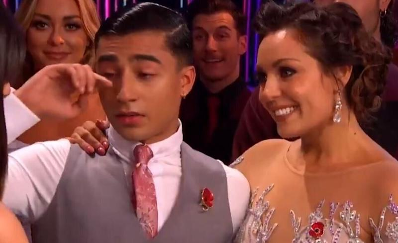 Karim Zeroual shed a tear on Saturday's Strictly Come Dancing (Photo: BBC)