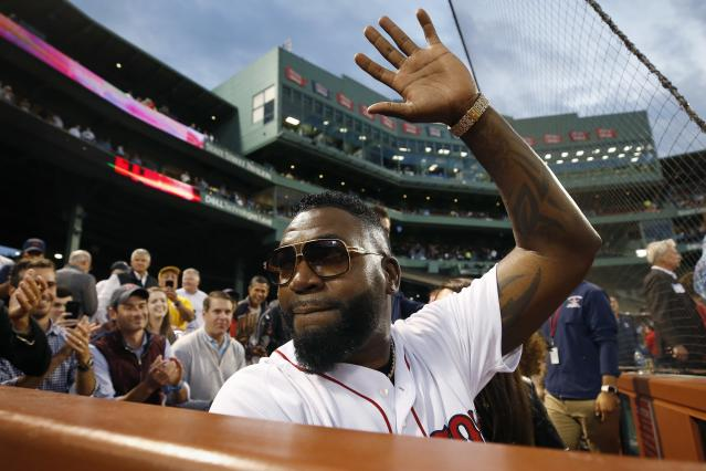 David Ortiz threw out the first pitch in an emotional return to Fenway Park last week. (AP Photo)