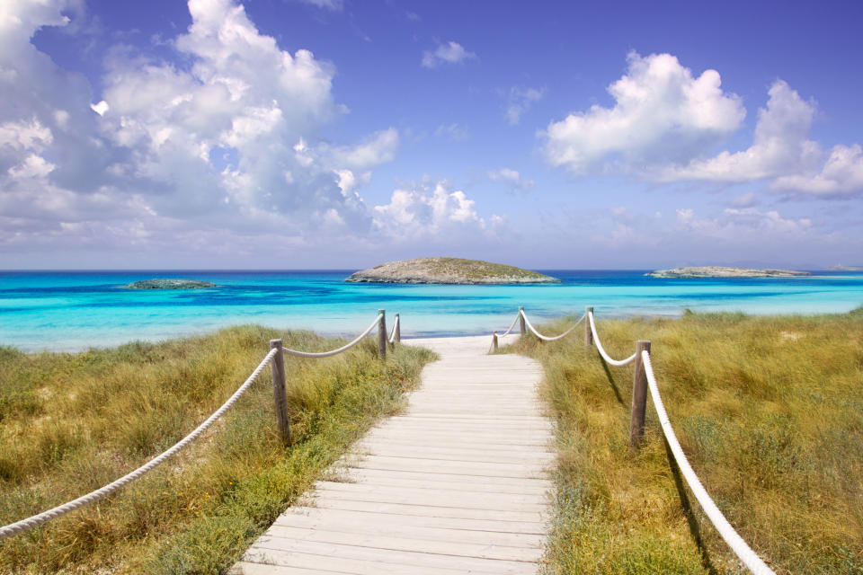 Illetas paradise beach in Formentera. (Getty Images)