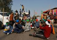 Protest against newly passed farm bills on outskirts of Delhi