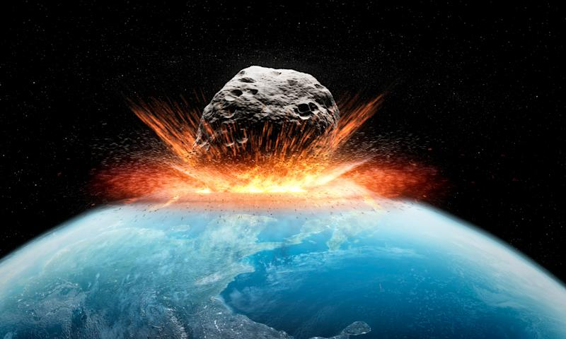 Asteroid impact, computer artwork. (Photo: SCIEPRO via Getty Images)
