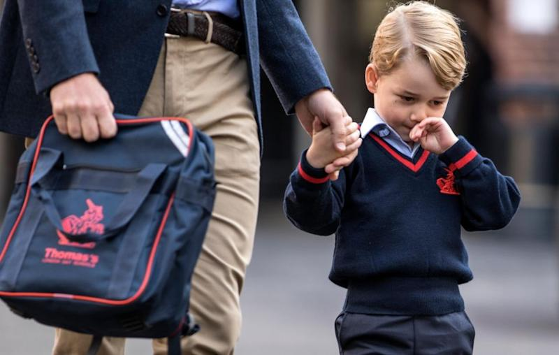 The royal was just like any other nervous four-year-old on their first day of school. Source: Getty