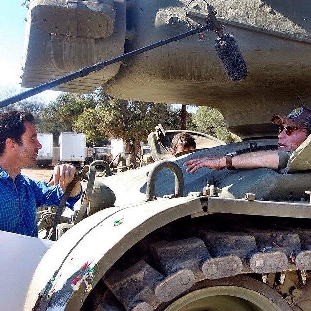 One prize featured Arnold Schwarzenegger and his tank