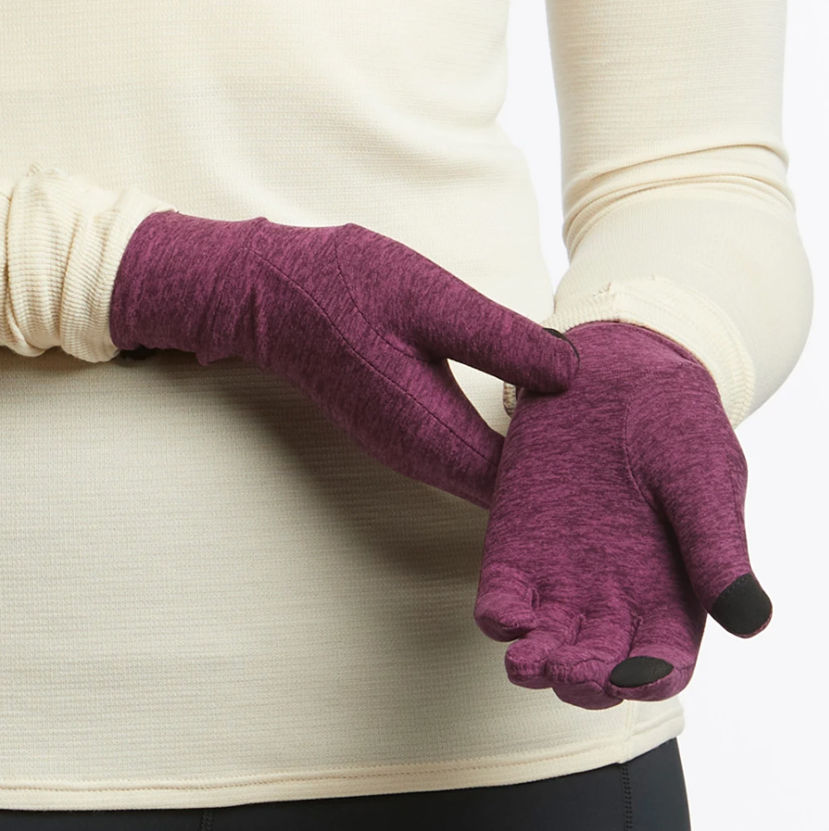 Oiselle Lux Gloves in Empire/Queen