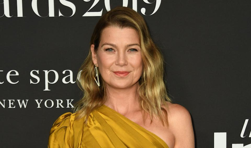 Ellen Pompeo arrives at the fifth annual InStyle Awards at the Getty Center in Los Angeles on Oct. 21, 2019. (Valerie Macon/AFP via Getty Images)