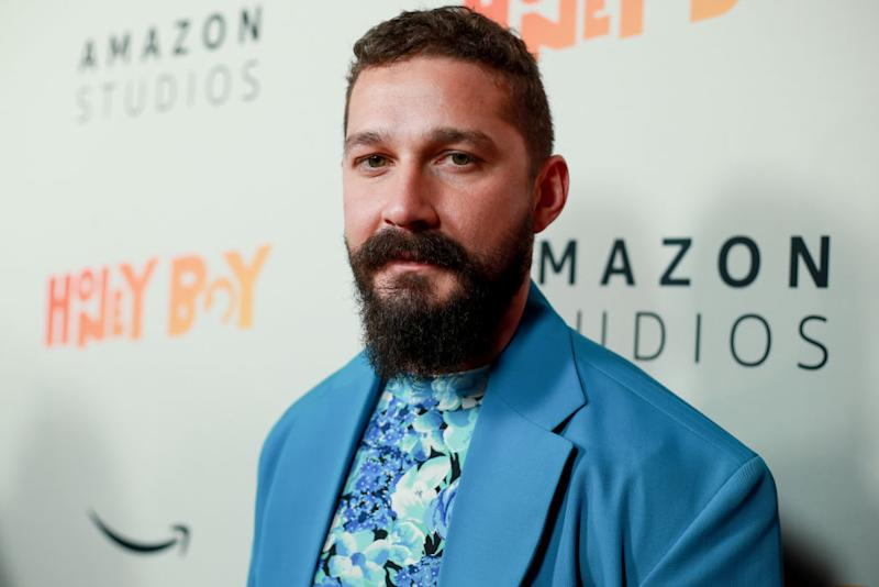 "Shia LaBeouf stars in ""The Tax Collector."" (Photo: Rich Fury/Getty Images)"