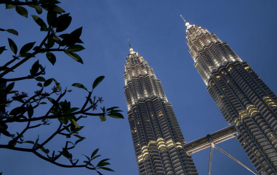 The Petronas Towers in Kuala Lumpur, Malaysia was built in 1998. It is 452m high, and has 88 floors.