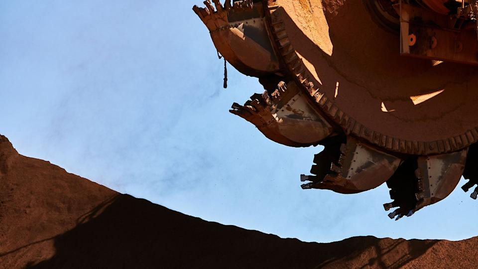 A Rio Tinto excavator in Pilbara, western Australia, the region where a historic cave heritage site has been destroyed. Photo: Rio Tinto