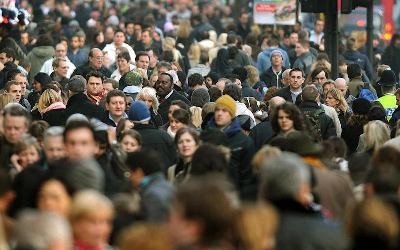 TfL is advising people who do need to use public transport stick to non-peak crowds - peak crowds pre-pandemic illustrated above (PA)