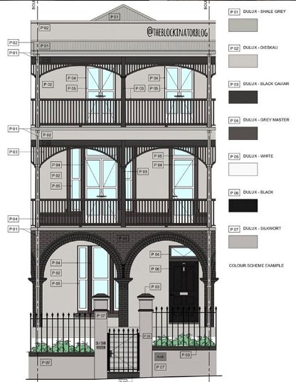 Plans for the changes to the Oslo Hotel in St Kilda show the victorian townhouse in shades of grey with a street garden and foliage