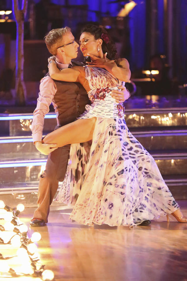 """Andy Dick and Sharna Burgess perform on """"Dancing With the Stars."""""""
