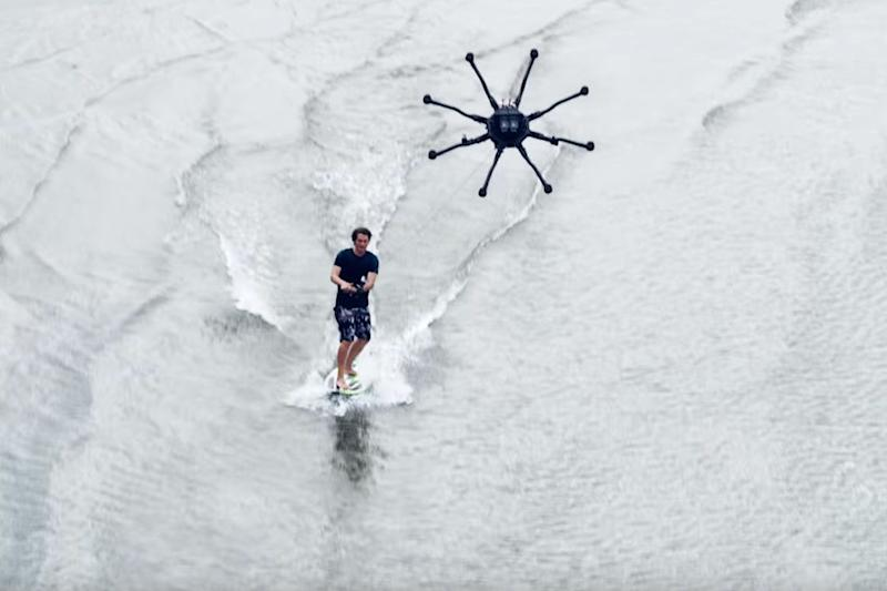 'Drone surfing' is exactly what you think it is
