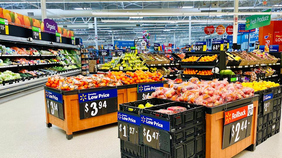 OLNEY, IL - 01/14/2020 - WalMart store interior on produce section.