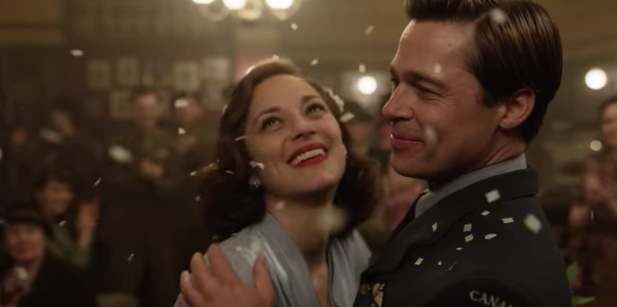 Marion Cotillard and Brad Pitt in 'Allied' (Paramount)
