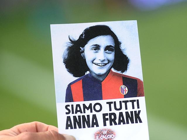 Italian fans overshadow bid to tackle anti-Semitic by singing fascist songs over Anne Frank reading