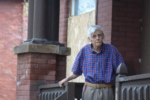 William Weaver has lived in his home on Osgoode Street for more than four decades. He's one of eight tenants of the rowhouse who are refusing to leave after being given notices from the building's new owner. (Joseph Tunney/CBC - image credit)