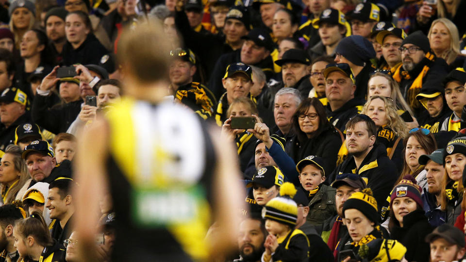 Richmond fans, pictured here during their win in the preliminary final.