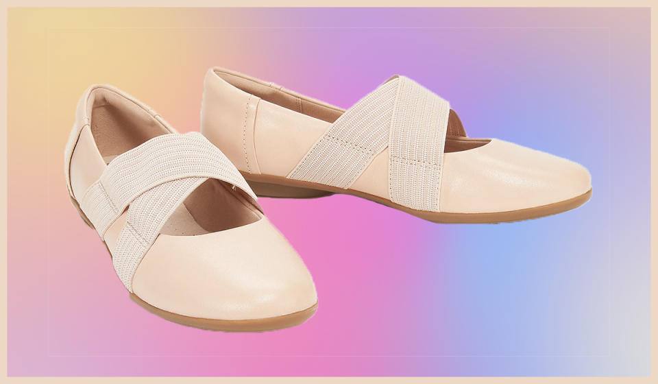 These ballet-inspired flats are perfect for everyday. (Photo: QVC)