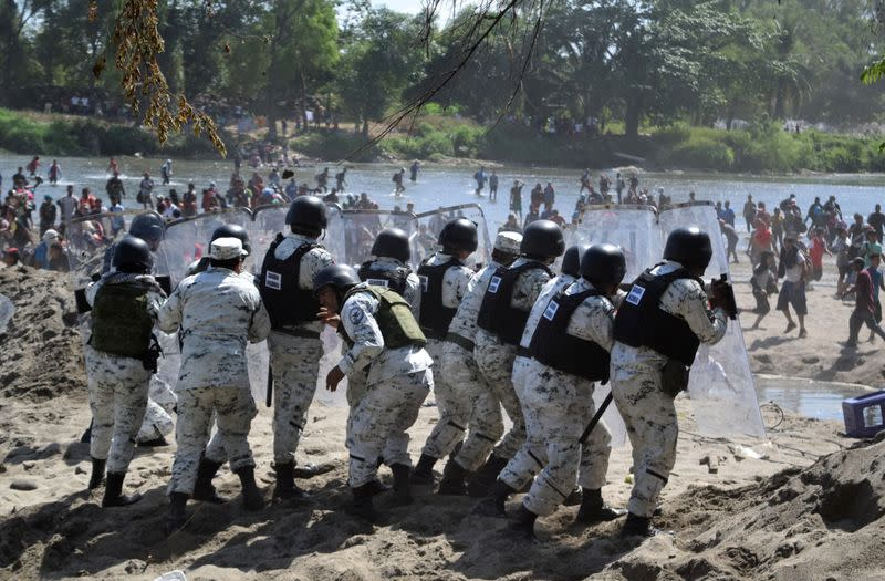 Children go missing as Central American migrants clash with Mexican forces