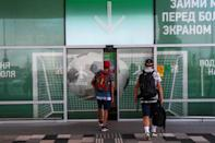 Passengers arrive at Platov international airport near Rostov-on-Don, Russia, July 3, 2018. REUTERS/Sergio Perez