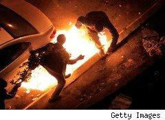 Protesters firebombed in Cairo