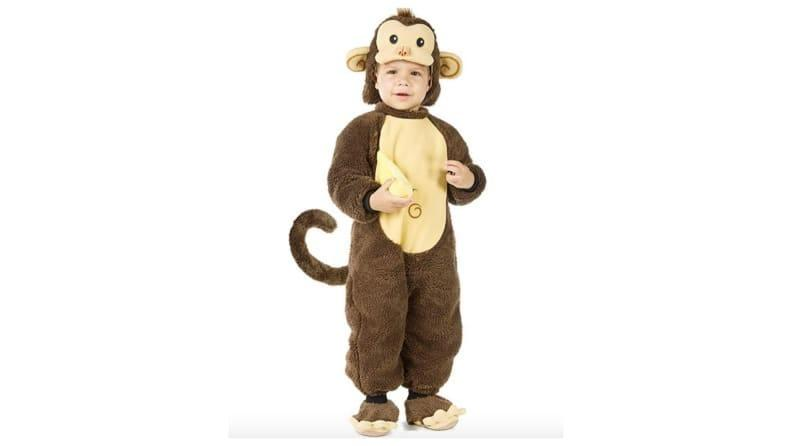 Your little one will stay warm—and look adorable—in a fuzzy Curious George costume.