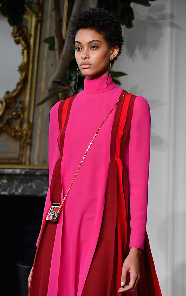<p>Valentino gave us a glimpse of the future when the brand sent models down the runway in clashing millennial pink and crimson red. And it hasn't slowed down since. The 20<sup>th</sup> anniversary of Princess Diana's death reintroduced us to her inimitable wardrobe and nobody knew how to colour-block quite like her. <em>[Photo: Getty]</em> </p>