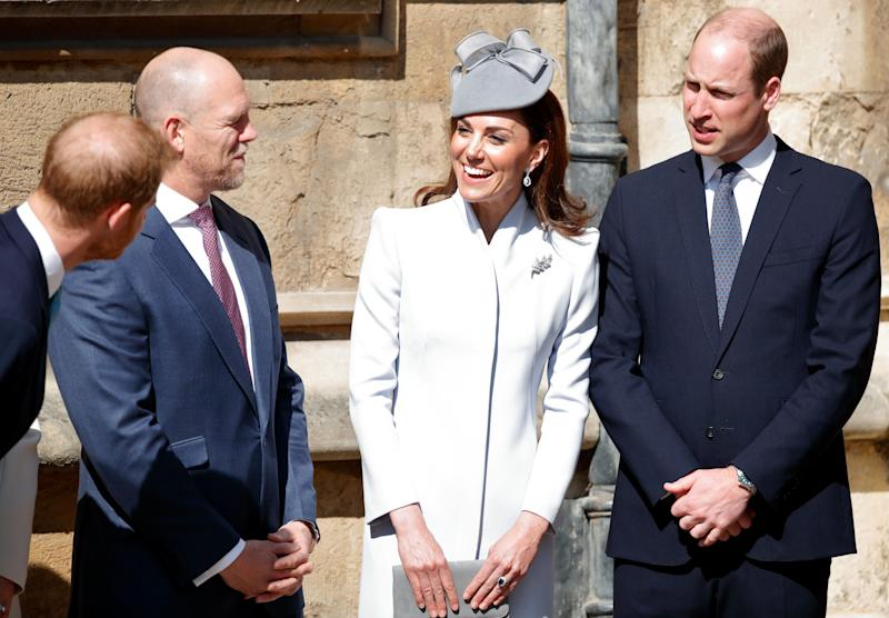 Harry did appear to joke with the Duke and Duchess of Cambridge, though it's highly unusual they would choose not to walk or sit with each other during a royal outing.  (Photo: Max Mumby/Indigo via Getty Images)