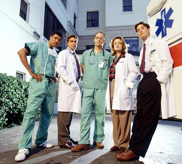 The Season 1 cast of the Michael Crichton-created hit series 'ER' (Photo: NBC / Courtesy: Everett Collection)