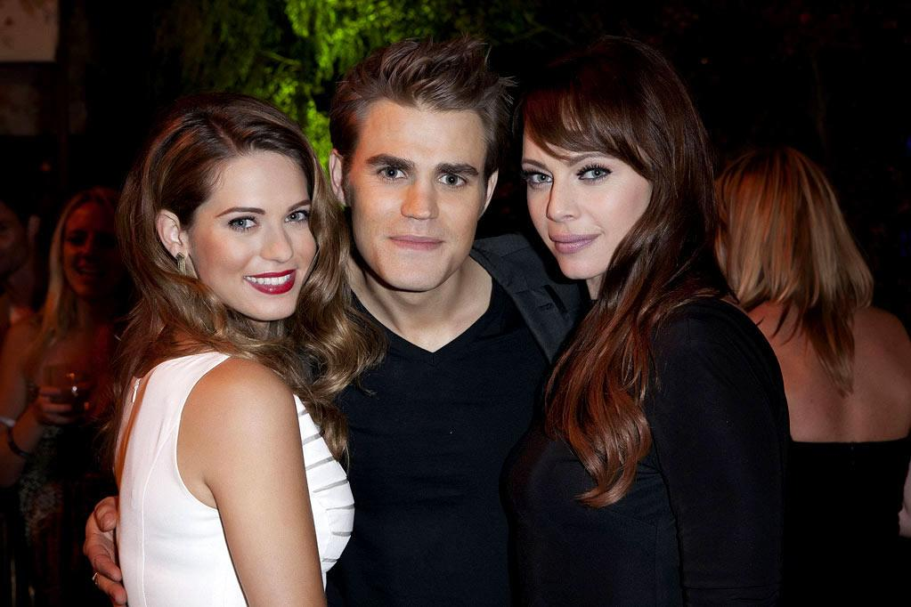 """<a href=""""/lyndsy-fonseca/contributor/402326"""">Lyndsy Fonseca</a> (""""<a href=""""/nikita/show/46555"""">Nikita</a>""""), <a href=""""/paul-wesley/contributor/1066843"""">Paul Wesley</a> (""""<a href=""""/vampire-diaries/show/44270"""">The Vampire Diaries</a>""""), and <a href=""""/melinda-clarke/contributor/270841"""">Melinda Clarke</a> (""""<a href=""""/nikita/show/46555"""">Nikita</a>"""") attend The CW Fall Premiere party presented by Bing at Warner Bros. Studios on September 10, 2011 in Burbank, California."""