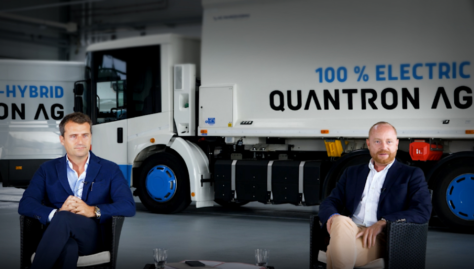 Mr. Miguel Valldecabres Polop, CEO of Ev Dynamics (left) and Mr. Andreas Haller, member of the board and founder of Quantron (right) believe that the share swap is another milestone in the strategic growth of the two companies.