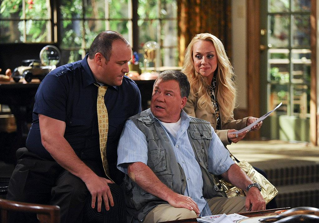 "Will Sasso as Vince, William Shatner as Ed, and Nicole Sullivan as Bonnie in ""$#*! My Dad Says."""