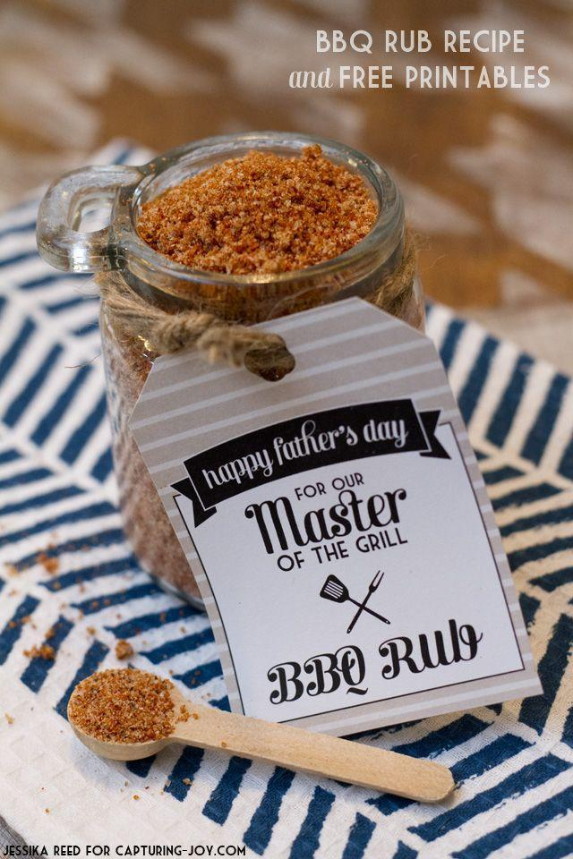 """<p>Does Dad love to grill? Then he'll definitely appreciate this homemade BBQ rub.</p><p><strong><em>Get the recipe at <a href=""""http://www.kristendukephotography.com/bbq-rub-recipe-and-free-printables/"""" rel=""""nofollow noopener"""" target=""""_blank"""" data-ylk=""""slk:Capturing Joy with Kristen Duke"""" class=""""link rapid-noclick-resp"""">Capturing Joy with Kristen Duke</a>.</em></strong></p>"""
