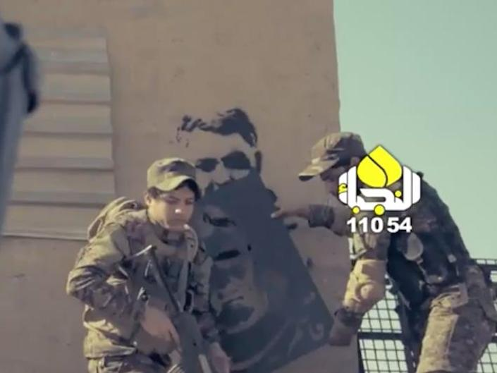 A still from a music video made about Ghassem Soleimani.