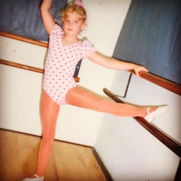 """<p>Drew Barrymore, taking a ballet class on a day away from a movie set: """"#happyinternationalwomensday … You never know who you will become, but I like being silly! And loving as much as I can possibly love! And I love all things girl! Forever and always! #girlsrule #womenrule"""" -<a href=""""https://www.instagram.com/p/BCtOXJitRlX/"""" rel=""""nofollow noopener"""" target=""""_blank"""" data-ylk=""""slk:@drewbarrymore"""" class=""""link rapid-noclick-resp"""">@drewbarrymore</a> (Instagram) <br></p>"""