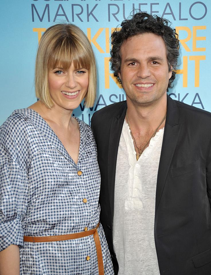 "Sunrise Coigney and <a href=""http://movies.yahoo.com/movie/contributor/1800025702"">Mark Ruffalo</a> at the Los Angeles Film Festival premiere of <a href=""http://movies.yahoo.com/movie/1810093978/info"">The Kids Are All Right</a> - 06/17/2010"