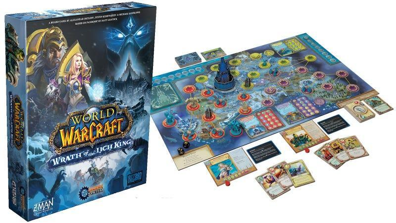 The box and board for the new World of Warcraft: Wrath of the Lich King board game.