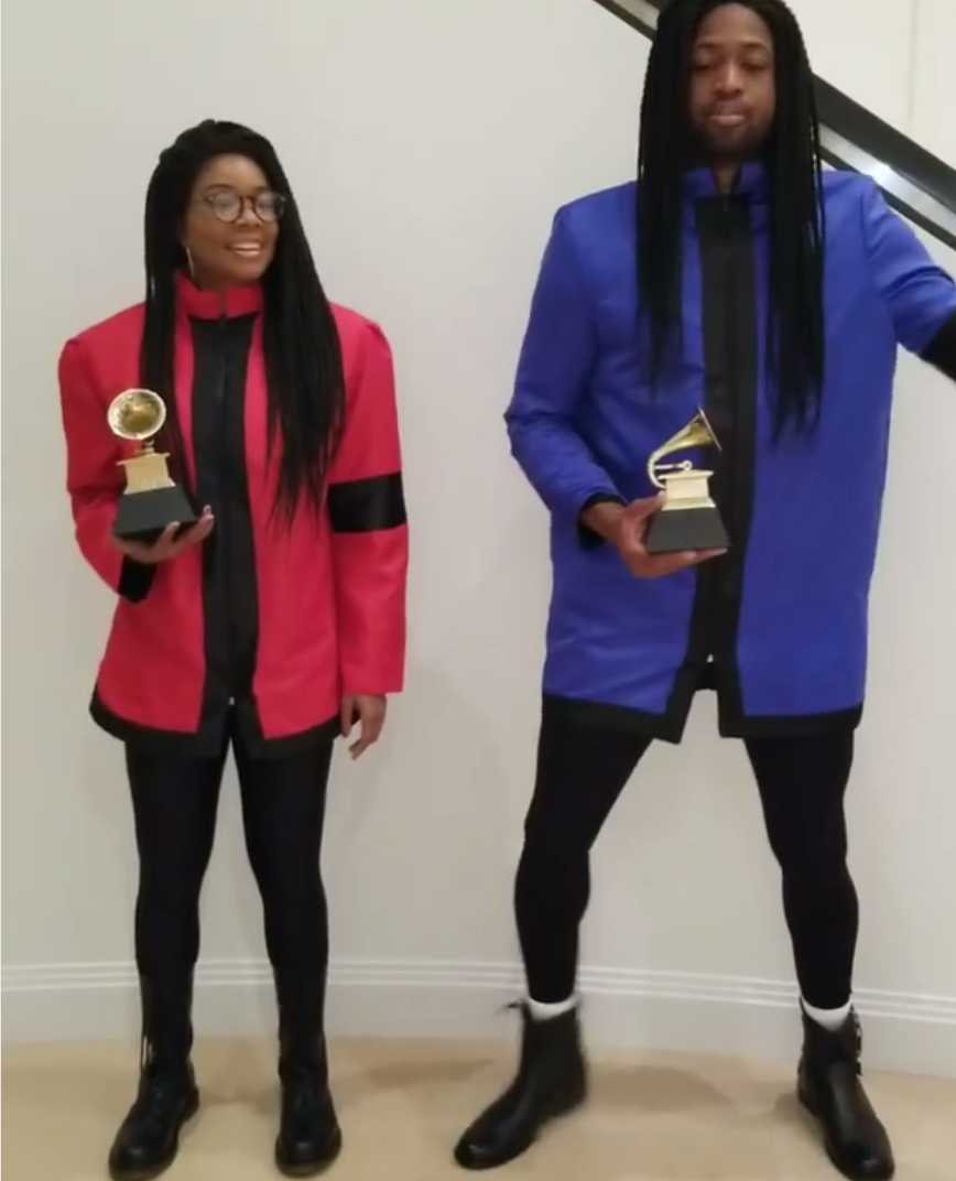 """<p>Union and Wade even had a familiar dance to go with their '90s-tastic costumes. """"Lost rehearsal footage of Milli Vanilli,"""" she cracked on Instagram. (Photo: Instagram/Gabrielle Union) </p>"""
