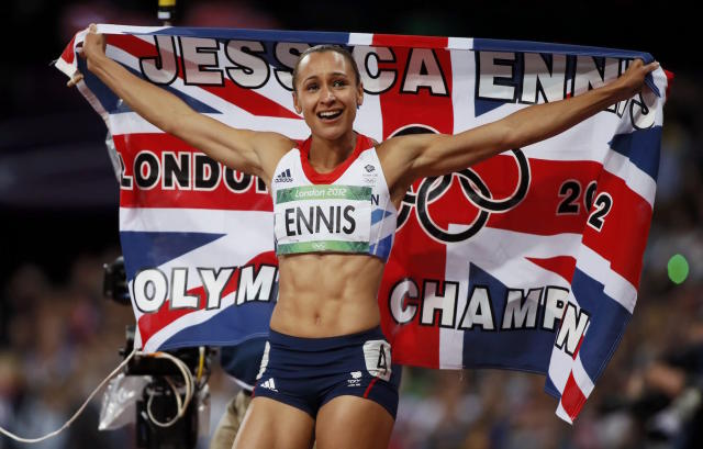 Dame Jessica Ennis-Hill at the London 2012 Olympic Games (REUTERS/Lucy Nicholson)